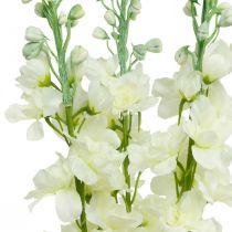 Delphinium Białe Sztuczne Delphinium Jedwabne Kwiaty Sztuczne Kwiaty 3szt.