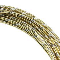 Diamentowy drut aluminiowy złoty 2mm 10m