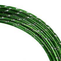 Diamentowy drut aluminiowy Apple Green 2mm 10m