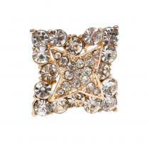 Diamentowa szpilka dekoracja ślubna złota 7cm 9szt