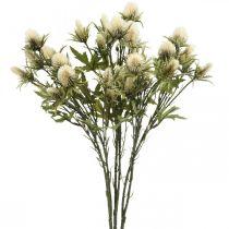 Oset Sztuczna Gałązka Dekoracyjna Kremowa 10 Główek Kwiatowych 68cm 3szt.