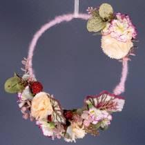 Nić odprowadzająca wilgoć sznurek filcowy stary różowy 55m