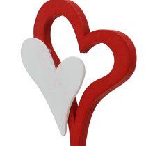 Wtyczka dekoracyjna podwójne serce 28cm 18szt