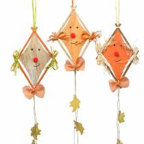 Jesienna dekoracja latawiec do zawieszenia 20cm x 13cm 3szt.