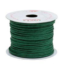 Nawinięty drut 50m Zielony