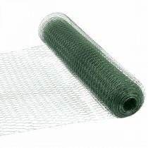 Siatka sześciokątna zielona powlekana PCV 50cm×10m