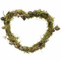 Drut serce 30cm fala pierścień na ścianę wieniec wieniec pierścień serce 10szt