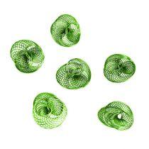 Kółka druciane jabłko zielone Ø4,5cm 6szt