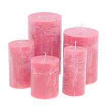 Solidny kolor świece różowe różne rozmiary