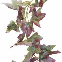 Bluszcz girlanda zielona, burgund 182,5cm