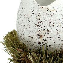 Jajko w gnieździe Ø9cm W10cm białe 4szt