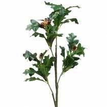 Gałązka liści dębu z żołędziami sztuczna 90cm
