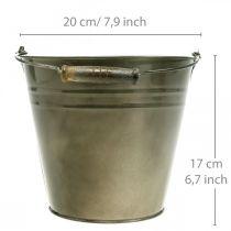 Metalowa doniczka, wiaderko do sadzenia, sadzarka Ø20cm H17cm