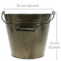 Metalowe wiaderko, doniczka, pojemnik metalowy Ø25cm H21cm