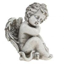 Pomnik Śpiący Aniołek szary 16cm 2szt.