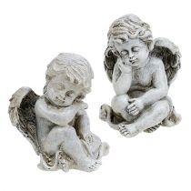 Aniołek siedzący szary 11cm 4szt.