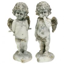 Dekoracyjny aniołek amorek z serduszkiem 25cm 2szt.