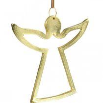 Metalowa zawieszka, Aniołek dekoracyjny, Dekoracja Adwentowa Złota 15×16,5cm