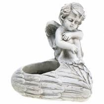 Dekoracja grobu podstawka pod tealight aniołek 10cm 2szt.