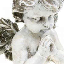 Modlący się anioł, kwiat pogrzebowy, popiersie anioła, dekoracja grobu wys. 19cm szer. 19,5cm