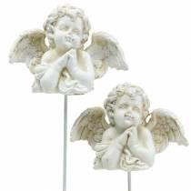 Dekoracja grobu zatyczka aniołek modlący się 5cm 4szt.
