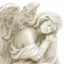 Deco aniołek siedzący 19cm x 13,5cm H15cm