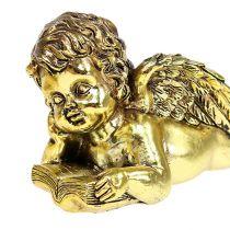Aniołek z książką leżący złoty 11-13cm 4szt.