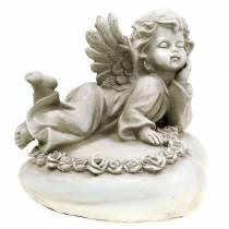 Dekoracyjny aniołek na serduszku z diodą LED 16cm 19cm H14,5cm