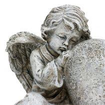 Aniołek z serduszkiem szary 11,5cm × 9cm × 6,5cm 2szt.