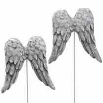 Korek dekoracyjny skrzydła anioła 10cm 3szt.