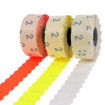 Etykiety 26x12mm różne kolory 3 rolki