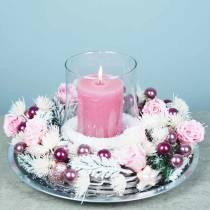 Wieczne róże średnie Ø4-4,5cm różowe 8szt