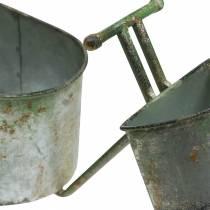 Doniczka Rower Cynk Szary, Zielony 40×14×21cm