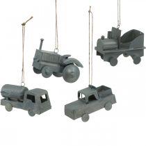 Pojazdy metalowe wiszące Asortyment 9-10cm 4szt.