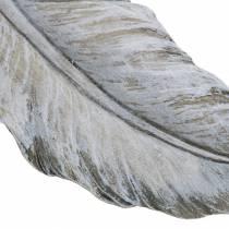 Piórko do dekoracji grobu 18cm x 6,5cm 4szt.
