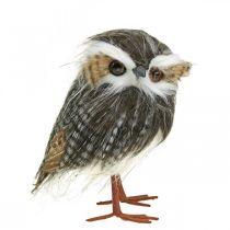 Sowa do dekoracji, jesień, ptak dekoracyjny, dekoracja lasu H21cm