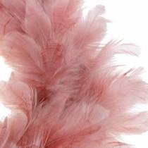 Deko Feather Wreath Large Old Pink Dekoracja Wielkanocna Ø40cm
