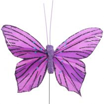 Motyle pióra fioletowe 8,5cm 12szt.