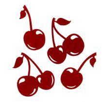 Filc wiśniowo czerwony 32szt