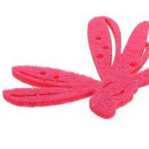Dekoracje filcowe rozsypanki różowe 24szt