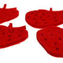 Truskawki filcowe czerwone 32szt