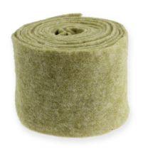 Taśma filcowa 15cm x 5m zielony mech