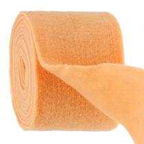 Taśma filcowa jasnopomarańczowa 15cm 5m