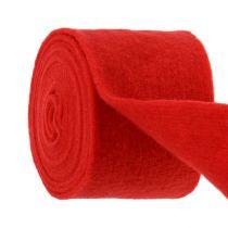Taśma filcowa 15cm x 5m czerwona