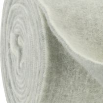 Taśma filcowa 15cm x 5m dwukolorowa szara, biała