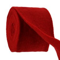 Taśma filcowa 15cm x 5m ciemnoczerwona