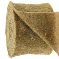 Pot Tape Taśma filcowa zielona z kropkami 15cm x 5m