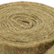 Taśma doniczkowa filcowa zielona w kropki 15cm x 5m