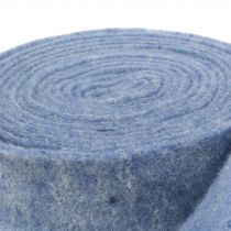 Taśma filcowa niebieska 7,5cm 5m