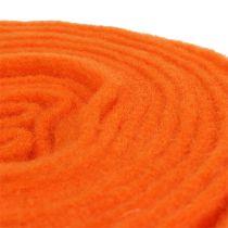 Taśma filcowa pomarańczowa 15cm 5m